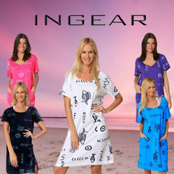INGEAR Fish Graphic Cotton Casual Beach Dress Summer Many Sizes Fashion Cover Up $17.95