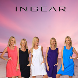 INGEAR Basic Cotton Casual Tank Beach Dress Summer Plus Size Fashion Cover Up $17.99