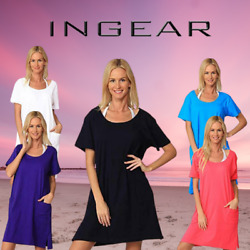 INGEAR Basic Cotton Casual Tank Beach Dress Summer Many Sizes Fashion Cover Up $17.99