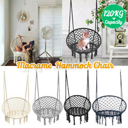 USA Hammock Chair Macrame Cotton Swing Bed Relax Outdoor Hanging Indoor 4 Color $47.49