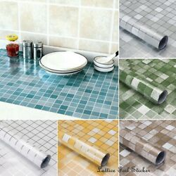 Waterproof Oil proof Self Adhesive Aluminum Foil Wall Sticker Home Kitchen Decor $5.99
