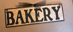 BAKERY primitive country kitchen farmhouse wooden wall decor sign 4x12quot; wood $8.99