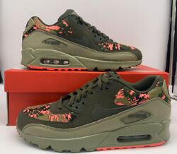 Nike Air Max 90 C Cargo Khaki Pink Running Shoes AH8440 300 Mens Size $129.97