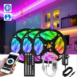 LED Strip Lights 15M Bluetooth RGB Flexible Tape Bedroom Lights 50FT with Remote $22.51