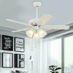 42quot; Reversible Wood Blade 3 Light Chandeliers Vintage Ceiling Fans Lamp Lighting $109.24