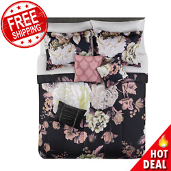 10 Piece Queen Size Comforter Set Sheets Bed Pillows Shams Bedroom In Bag NEW $61.88
