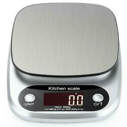 Kitchen Food Scale for Cooking Baking Diets 22lbs Capacity 10kg x1g $14.99