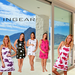 INGEAR Fish Graphic Cotton Casual Beach Dress Summer Plus Size Fashion Cover Up $16.99