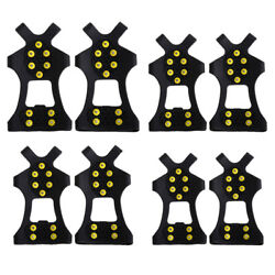 10 Stud Universal Ice No Slip Snow Shoe Spikes Grips Cleats Crampons C $10.45