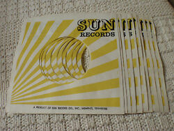 PACKAGE OF 10 SUN RECORDS SLEEVES $19.99