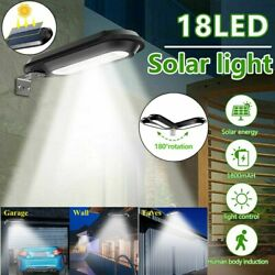 Waterproof 18 LED Solar Power Outdoor Light Automatic Night Lamp Wall Mounted US