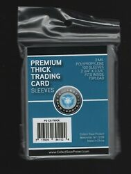 100 Pack Premium Thick Trading Card Sleeves For Extra Thick Sports Cards $5.49