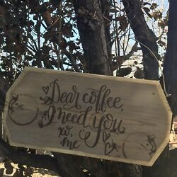 Funny Coffee Sign Coffee Bar Coffee Decor Funny Kitchen Signs Rustic $25.00
