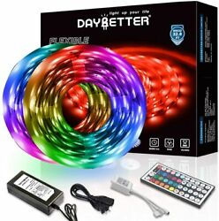 Led Lights 60ft RGB LED Light Strip Kit with 44 Keys IR Remote Multiple Colours