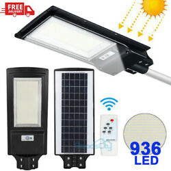 900000LM Commercial Solar Street Light 936 LED Outdoor Dusk to Dawn Road Lamp