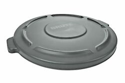 Rubbermaid Commercial Products FG264560GRAY BRUTE Heavy Duty Round Trash Garb...