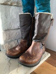 Women#x27;s Earth Leather Winter Brown Women's Boots Size 11 Barely Worn $72.00