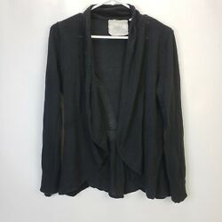 Anthropologie Angel of the North Womens Black Sweater Cardigan Jacket Medium $19.72
