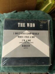 The Who Maxi 12quot;Single WLP I Don#x27;t Even Know Myself $15.59