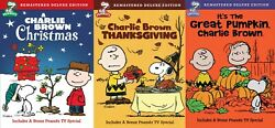 A Charlie Brown Thanksgiving Christmas It#x27;s The Great Pumpkin DVD Set New $34.95