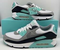 Nike Air Max 90 Retro Hyper Turquoise Blue White Grey Black CD0881 100 Mens Size $100.00