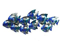 SCHOOL FISH METAL WALL ART CONTEMPORARY HOME DECOR TROPICAL ISLAND MODERN $49.95