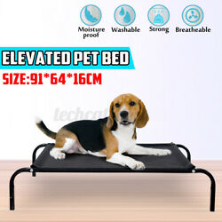Elevated Dog Bed Lounger Sleep Pet Cat Raised Camping Cot Hammock Indoor Outdoor $29.35