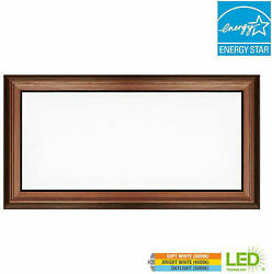 Commercial Electric 1 ft. x 2 ft. 24 Watt Dimmable Bronze Integrated LED Deco