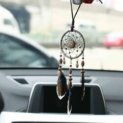 Dream Catcher Flower Feather Pendant Wall Hanging for Car Home Horn Brown $5.92
