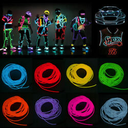 Christmas LED Neon EL Wire String Light Strip Rope Car Interior Atmosphere Glow