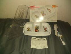 Vintage Evenflo Electric Baby Feeding Dish 2 Heated Portions amp; 1 Cold Works $13.99