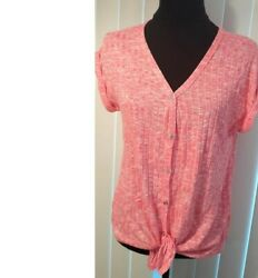 NOBO Pink top with beautiful detail on sleeves Size: L. $15.00