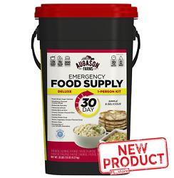 20 Lbs Emergency Food Survival Supply Prepper Storage Bucket 30 DAY Rations Kit $97.49