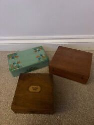 Vintage Boxes X 3 And Contents GBP 26.00