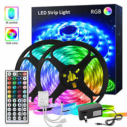 32.8FT Led Strip Lights RGB with Remote Bars Party Bedroom Lights Box Full Kits