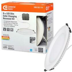 Commercial Electric Slim 6 in. led color changing recessed kit