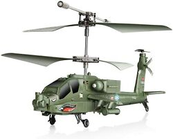Apache AH 64 Helicopter RC Flight Infrared 3CH AH64 S109 Gyro Military Aircraft $49.99