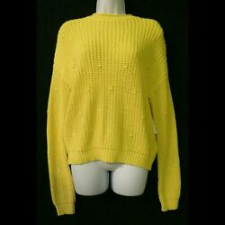 Abound Nordstrom NEW Small Crew neck pullover sweater Yellow knit womens NWT $5.60