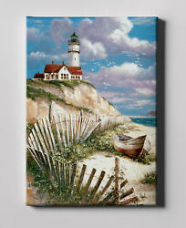 Paint by Numbers Kits for Adults Arylic Painting DIY Canvas Seashore Lighthouse $19.99