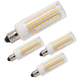 Dimmable LED Bulbs JD T4 E11 Mini Candelabra Base 75W 100W Equivalent 4 Pack New $23.00