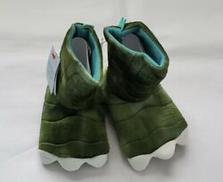 Cat amp; Jack Toddler Boys#x27; Slipper Boots Dark Green Dinosaur Small 12 24 Months A7 $3.00
