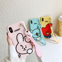 For iPhone 11 Pro Max XR XS 7 8Plus Cartoon Cute BTS BT21 Soft Phone Case Cover