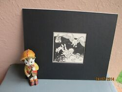 vintage illustration of boy flying with animals by Dorothy Lathrop 1935 $11.50