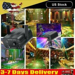 LED RGB Laser Stage Lighting 48 Patterns Projector Lamp Party Disco DJ KTV Club $21.55