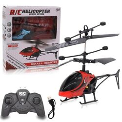 Remote Control Mini Helicopter Kids Toy Gift Infrared Induction Flying Outdoor $19.89