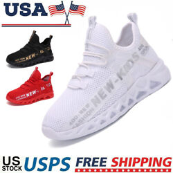 Kids Sneakers Boys Girls Running Shoes Lightweight Breathable Boys Tennis Shoes $14.32