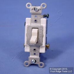 Leviton Light Almond 3 Way COMMERCIAL Toggle Wall Light Switch 15A Bulk CSB3 15T