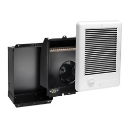 In Wall Electric Heater Fan Forced Quiet Recess Mount Indoor Variable Heat Home $150.82