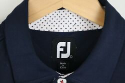 FootJoy Mens Sz Large Blue Short Sleeve Polo Shirt $24.29