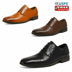Mens Dress Shoes Lace up Genuine Leather Oxford Shoes Classic Casual Shoes $18.89